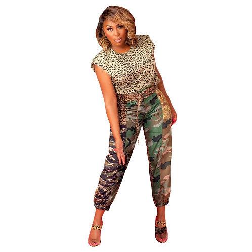 Camo/Leopard Print Joggers