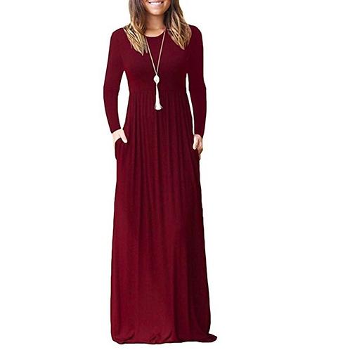 Long Casual Maxi Dress w/Pockets