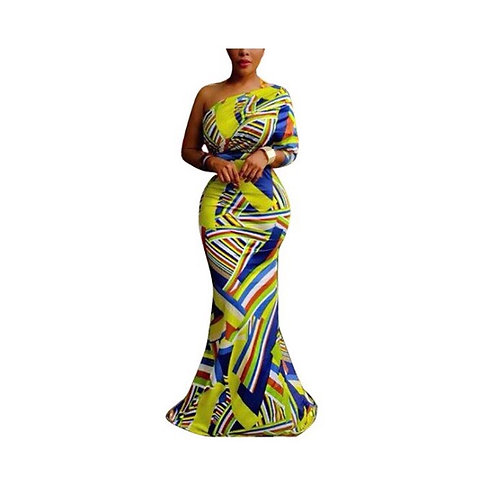 Printed Floor Length Dress