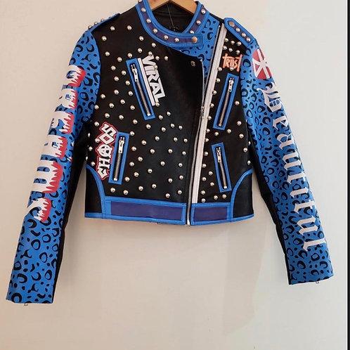 Leather Studded Punk Jacket