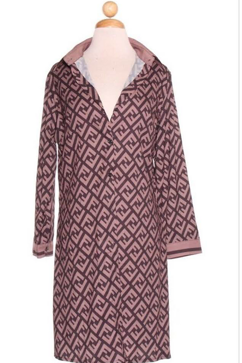 Fendi Printed Shirt/Dress