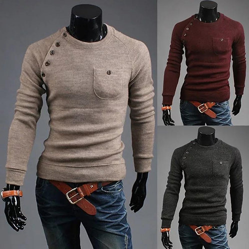 Casual Cashmere Knitted Shirt