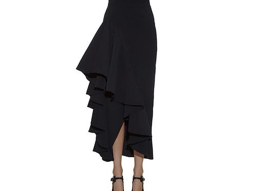 Long High Waist Ruffle Skirt