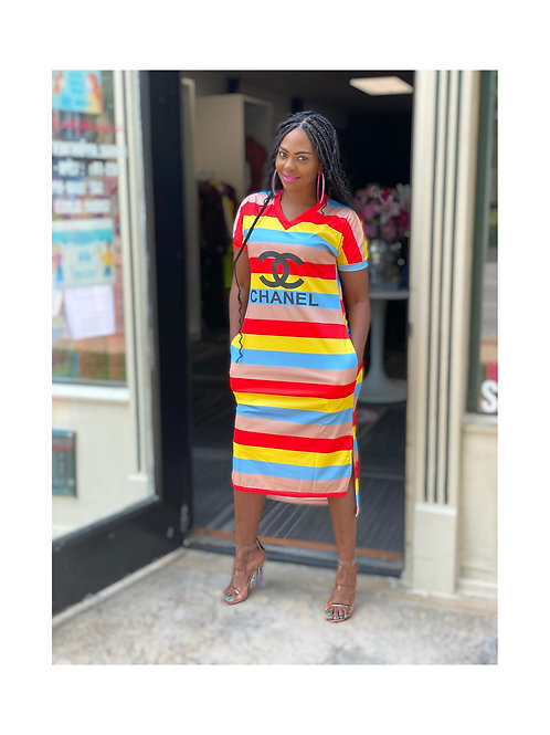 Striped Chanel Dress