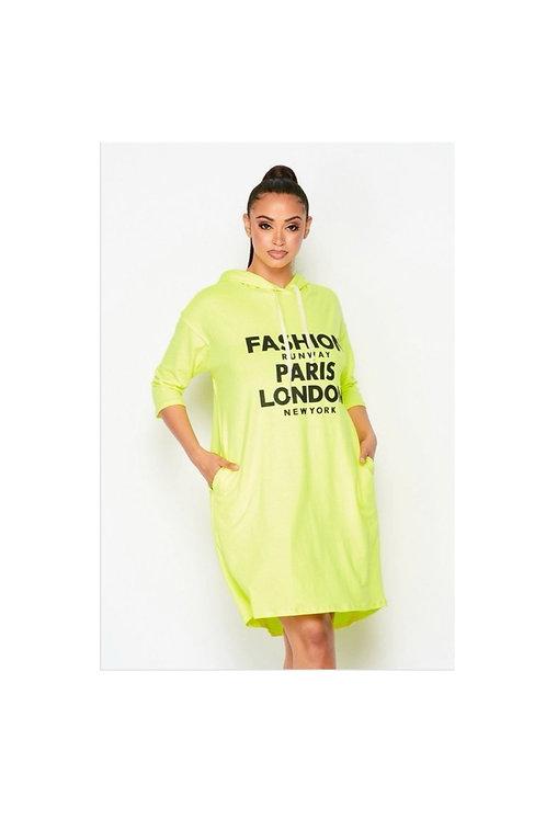 Logo Fashion Hoodie Dress