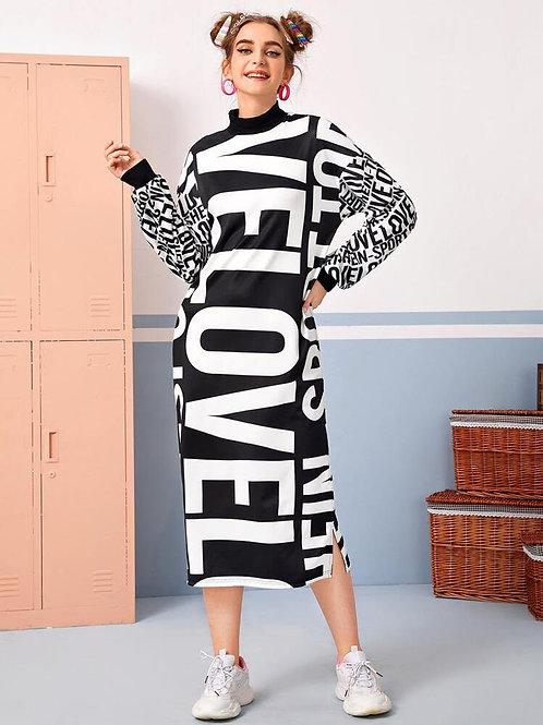 Letter Graphic Mock Dress