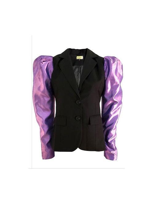 Taffeta Sleeve Blazer