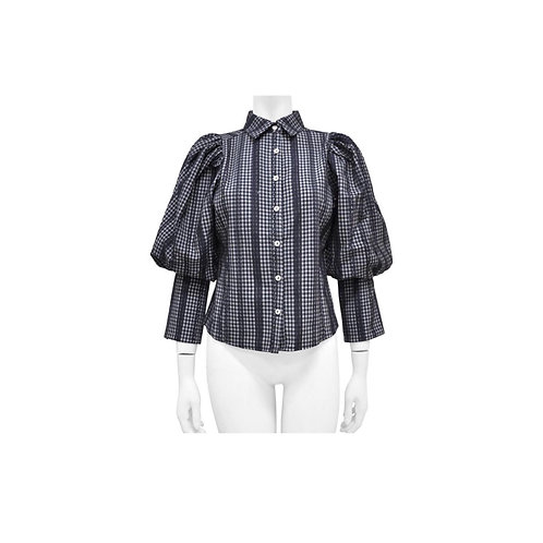 Balloon Puff Shoulder Blouse