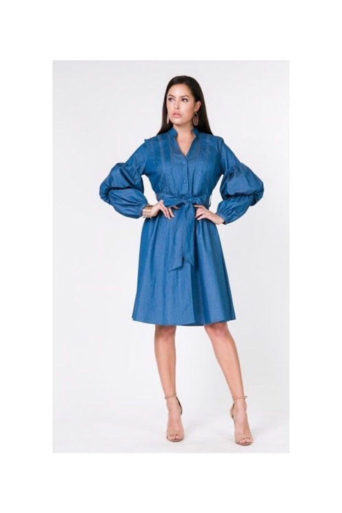 Denim Chambray Dress
