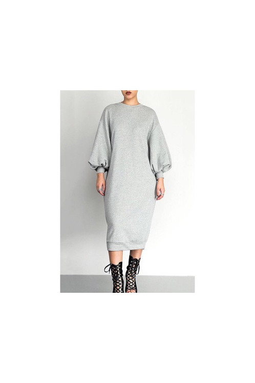 6226712a4dad Puff Sleeve Sweatshirt Dress