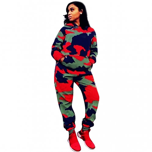 Colorful Printed Camouflage Set