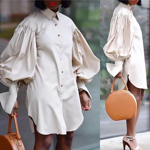 Lantern Sleeve Shirt/Dress