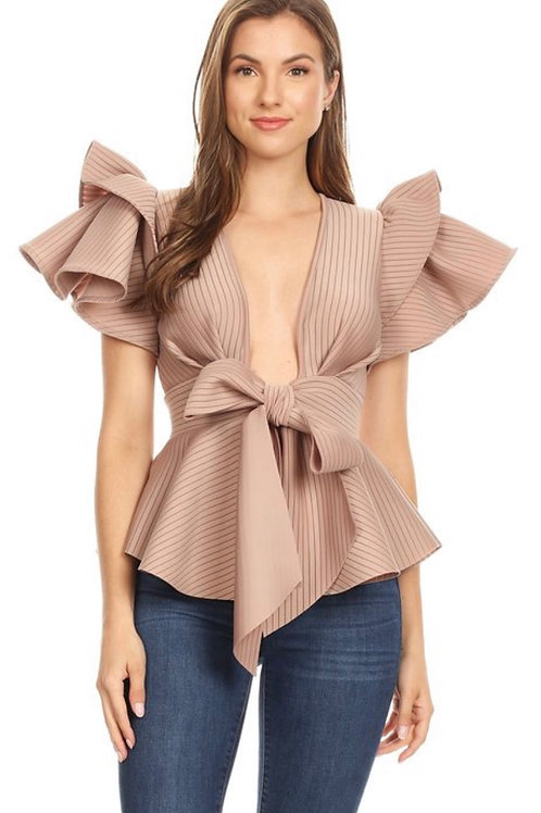Peplum Ruffle Tiered Top