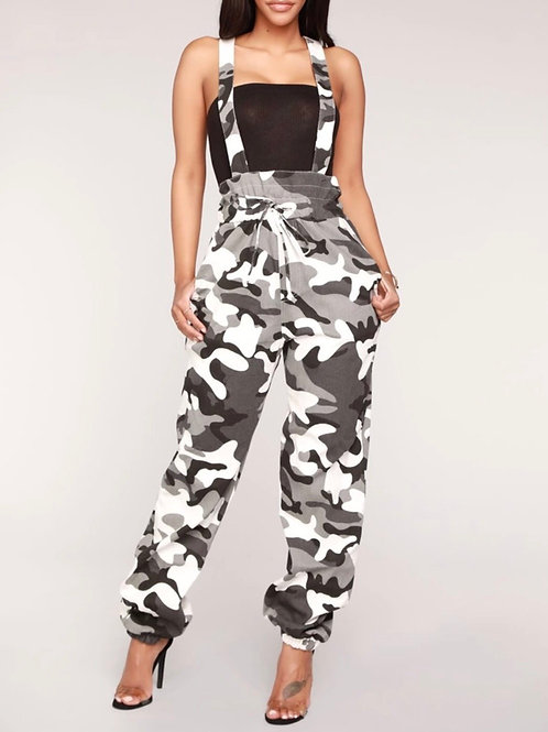 Camouflage Overall Jumpsuit