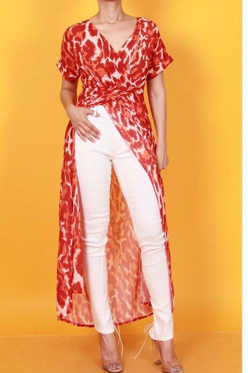 Printed Maxi Dress/ Shirt
