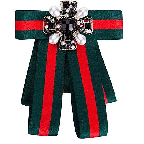 Green Ribbon Brooch