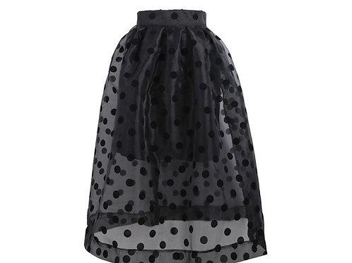 Polka Dot Organza Skirt