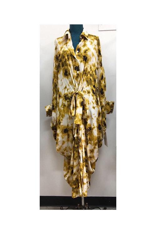 Tie Dye Loose Boho Dress