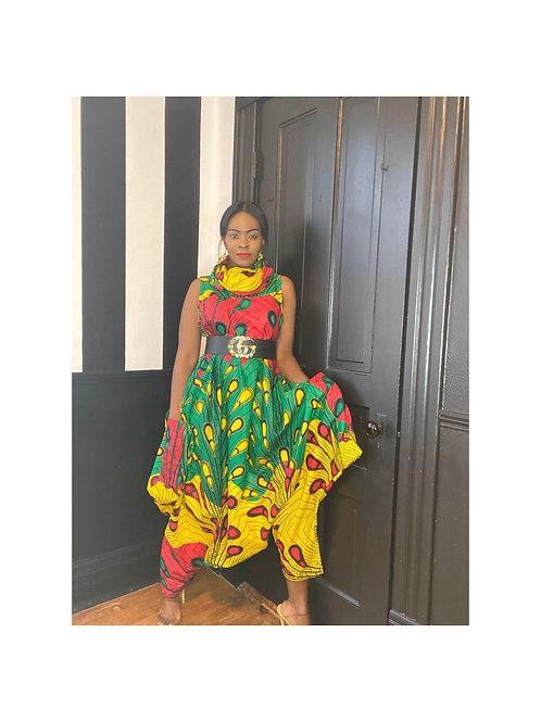 African Print Sleeveless Baggy /Dress