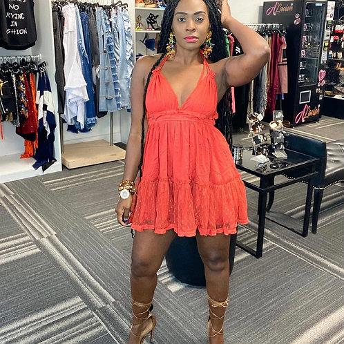 Sweet Halter Mini Dress