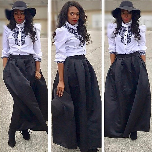 Flared A-Lined Maxi Skirt