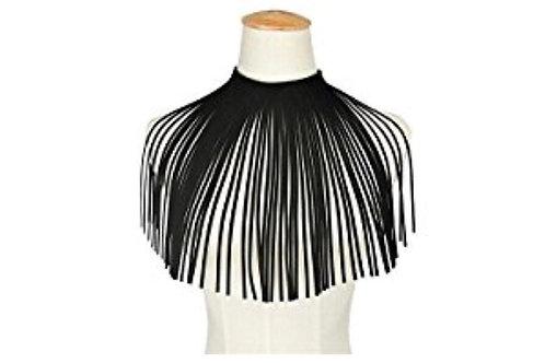 Velvet Leather Tassel Necklace