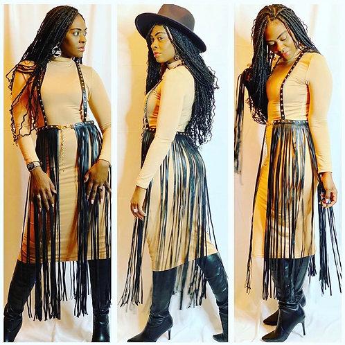 Fringe Skirt Belt