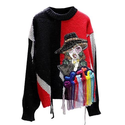 Character Tassel Sweater