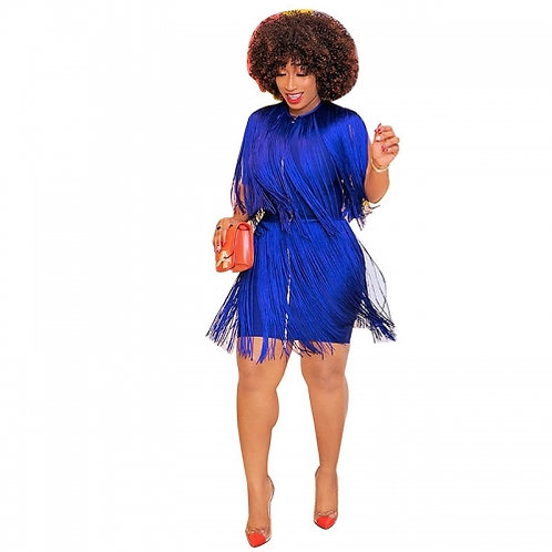 Fringed Mini Dress