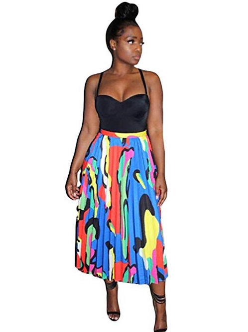 Graffiti Pleated Skirt