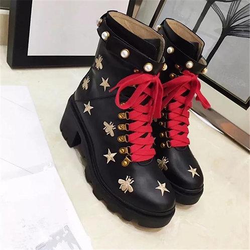 Gucci Pearl Boots