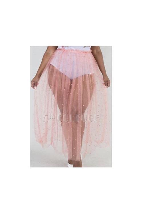 Pearl Mesh Skirt