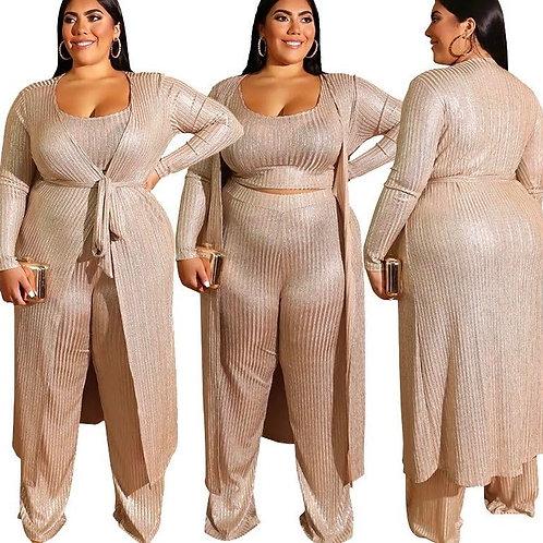 Shimmer 3 Pcs Cardigan Pants Set