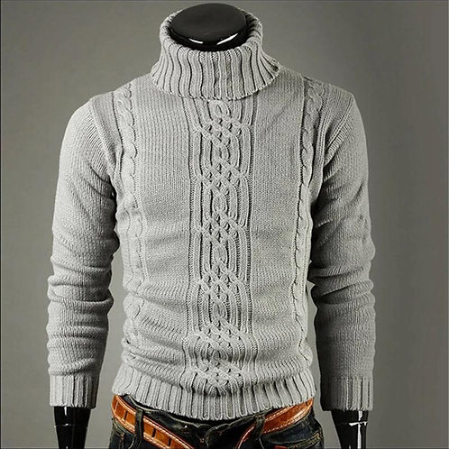 Knitted Fitted Turtelneck Sweater