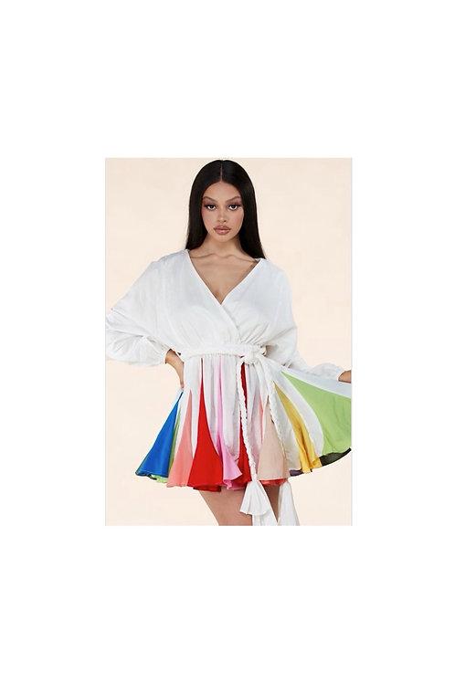 Rainbow Flare Dress