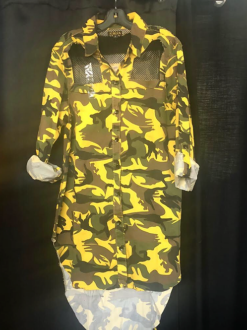 Yellow Camouflage Shirt/Dress