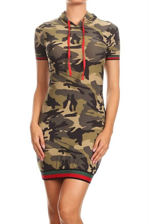 Camouflage Hoodie Dress