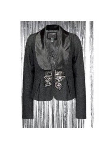 Embellished Wooven Blazer