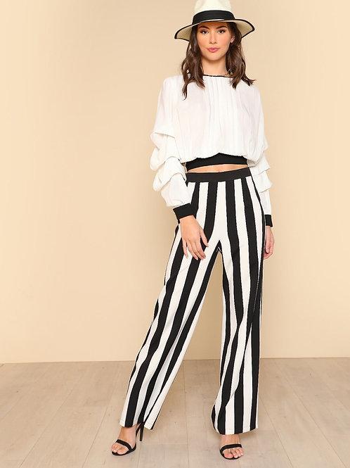 Stripe Wide Leg Pants