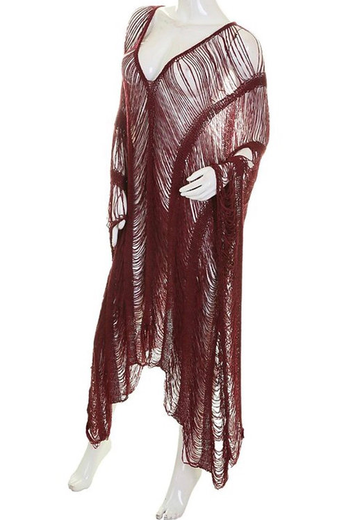 Fringe Asymmetrical Dress