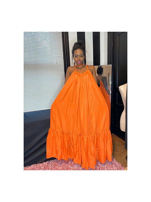 Sleeveless Flowing Maxi Dress