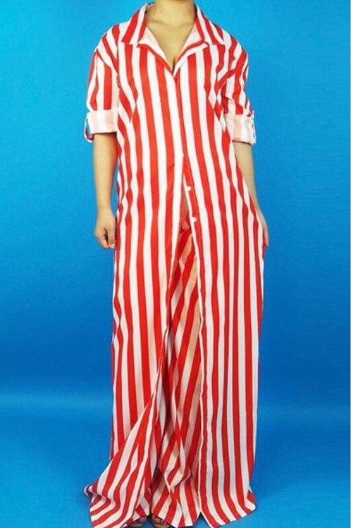 Stripe Maxi Pants Set