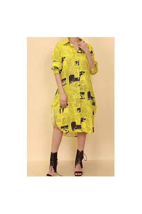 Newspaper Shirt Dress