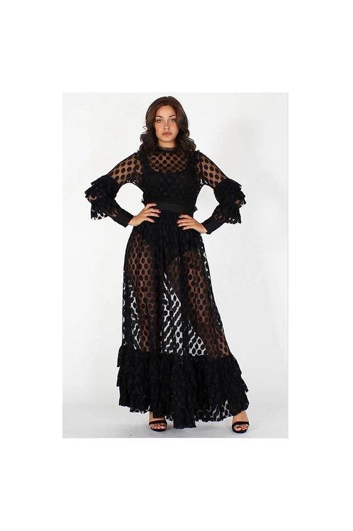 Sheer Polka Dot Maxi Dress