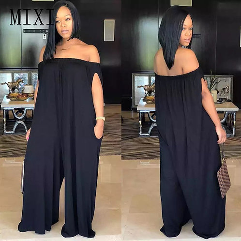 Off Shoulder Wide Relax Jumpsuit