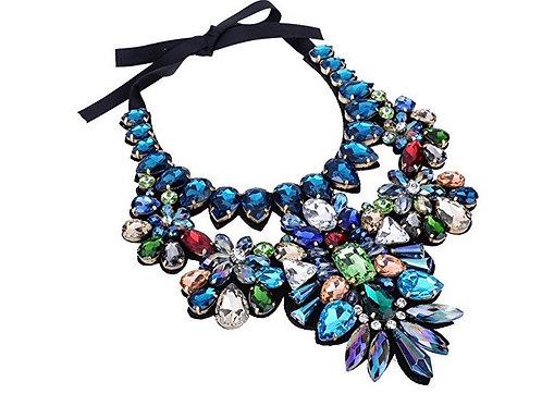 Tear Drop Glass Bead Statement Necklace