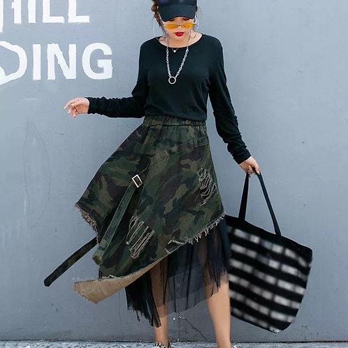 Camouflage Mesh Skirt