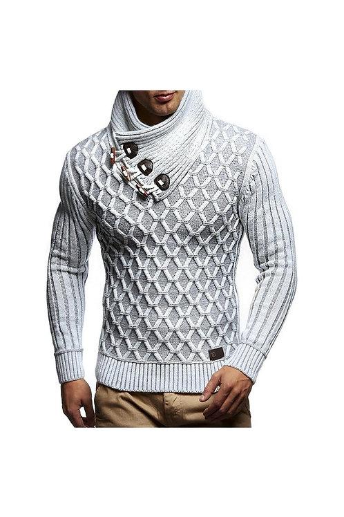 Knitted Geometric Pattern Sweater