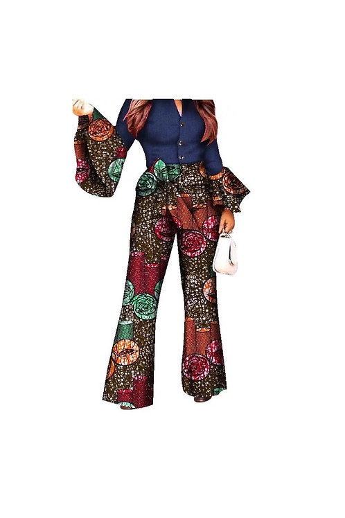 African Bell Sleeve Pants Set