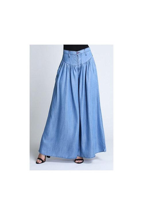 Wide Leg Tencel Denim Pants